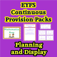 EYFS Continuous Provision Planning & Resource Packs