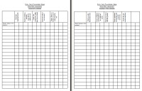 Daily Risk Assessment Sheets