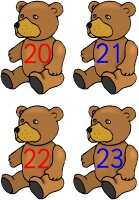Small Bear Number Cards