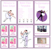 Ballet School Role Play Pack