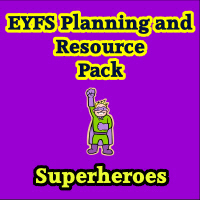 Superheroes Planning and Resource Pack on CD